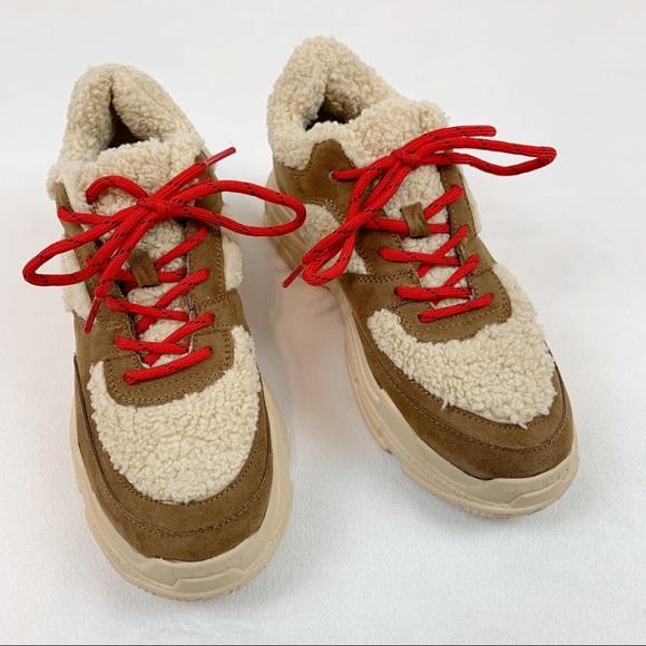 Jessica Simpson Sporta 2 Sherpa Suede Sneakers